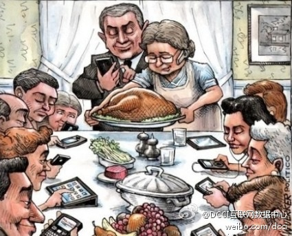 Electronic Mobile Thanksgiving