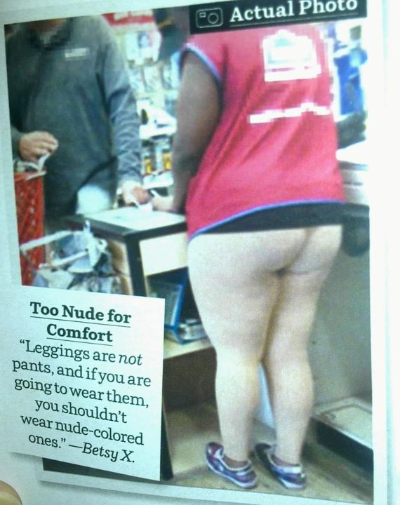 Nude Leggings on Lowe's Cashier