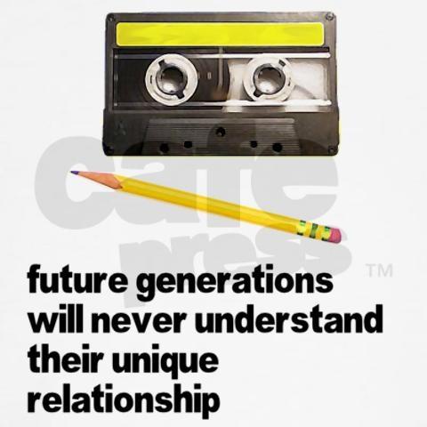 Pencil and Tape Cassette - Rewind