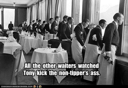 Waiter Fights Non-Tipper
