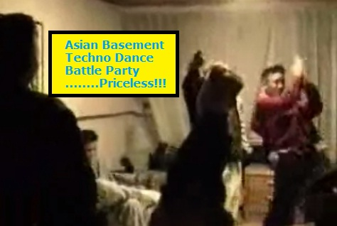 Asian Basement Techno Dance Battle Party...Priceless
