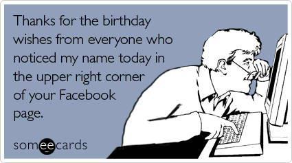 Facebook Birthday - eCard