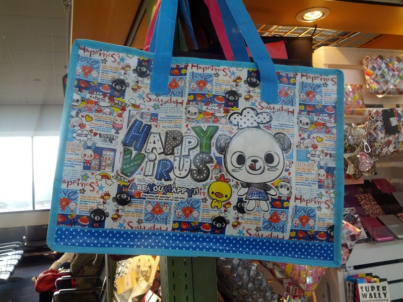 Happy Virus Cartoon Bag