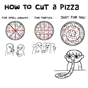 how to cut a pizza