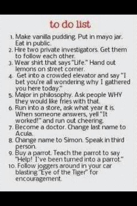 New Years Resolution - Funny To Do List - Random Lifestyle