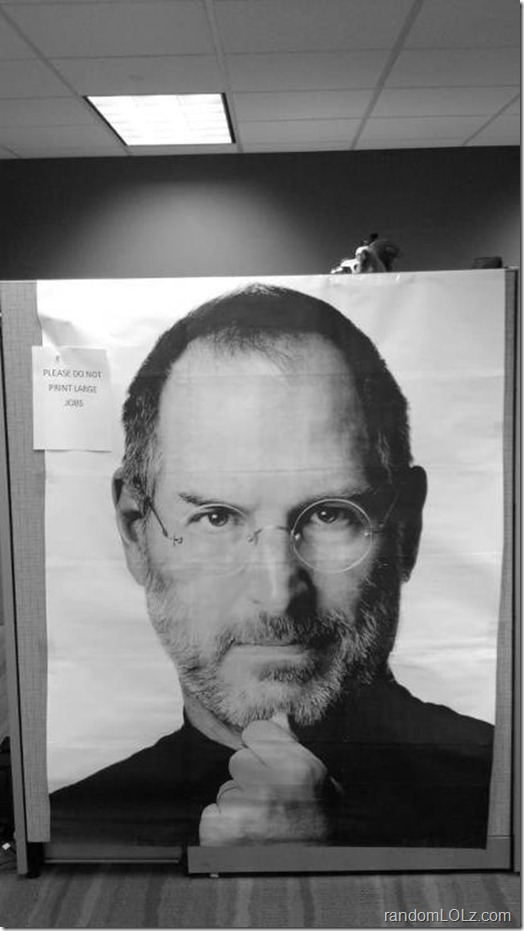 Steve Jobs - Printed & Living Large