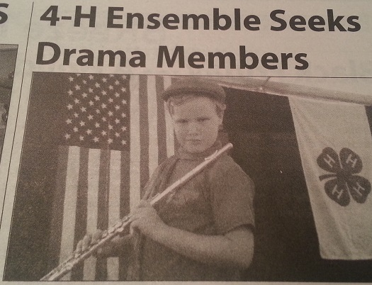 4-H Ensemble Seeks Drama Members