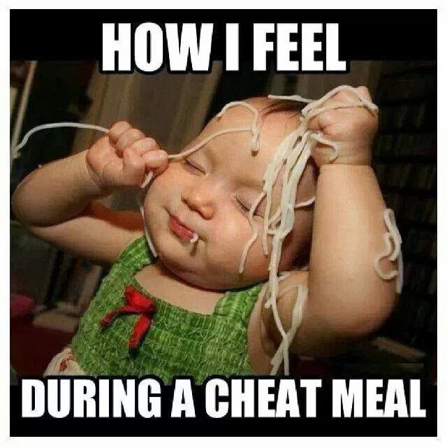 How I Feel Eating a Cheat Meal