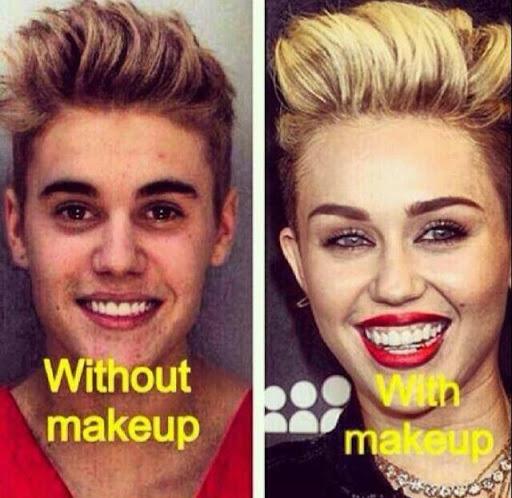 Justin Bieber Arrested - With Makeup