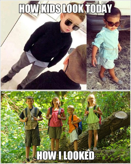 How kids dressed today vs now