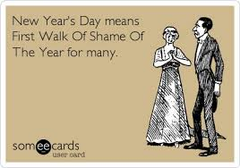 New Years walk of shame