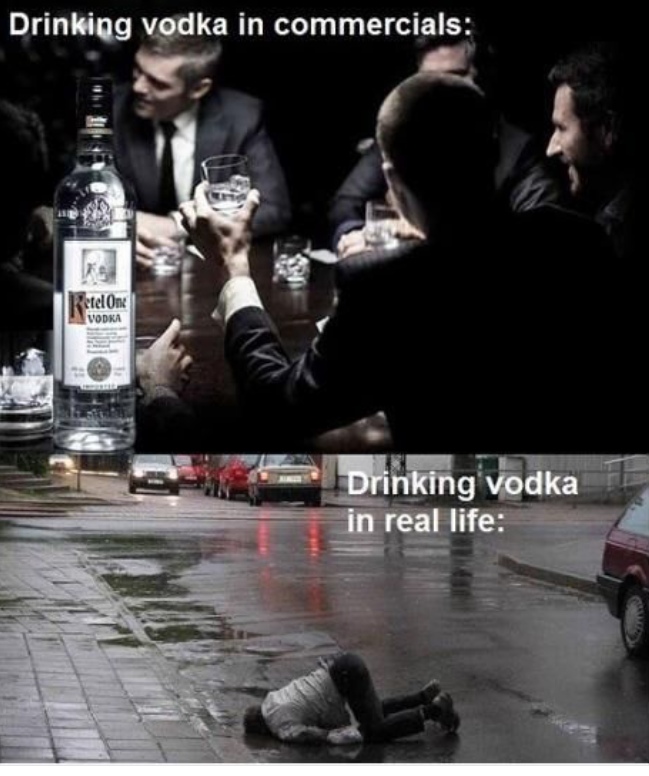 What Drinking Vodka Really Looks Like