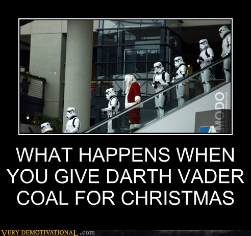 darth vader coal stormtrooper santa
