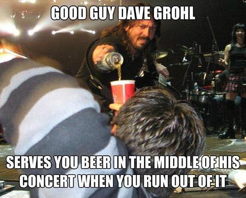 dave grohl beer concert
