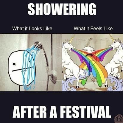 festival shower unicorn