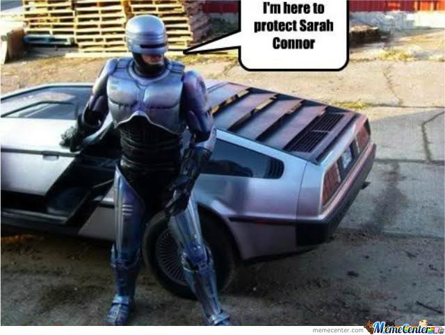 future mashup robocop delorean back to the future terminator