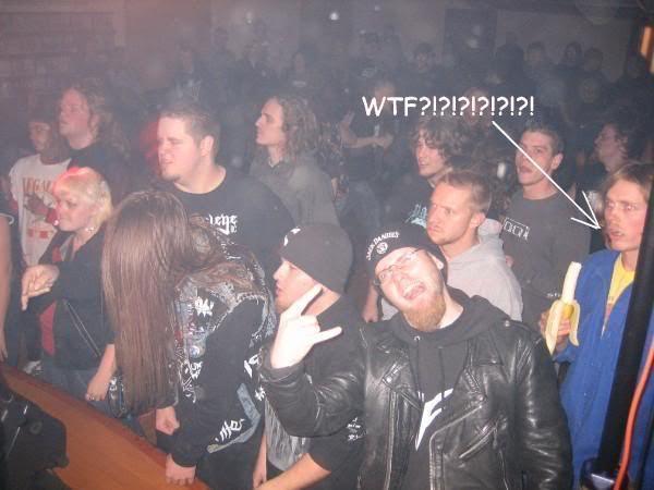 metal concert banana wtf