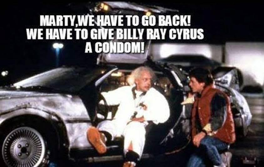 miley back to the future condom