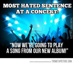 new song concert hated