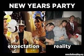 new years party expectation vs reality