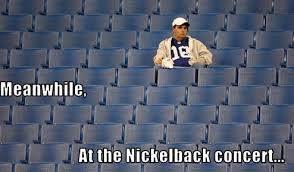 nickleback concert empty
