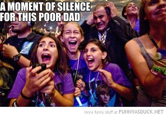 poor dad tween girls concert