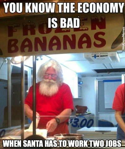 santa job banana