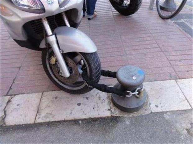 common sense motorcycle lock fail