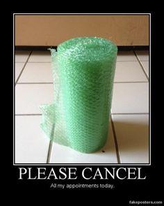 bubble wrap cancel appointments