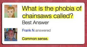 common sense chainsaw fail