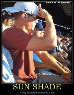 common sense baseball hat sunglass fail