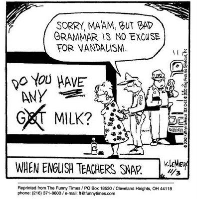 english teacher milk police