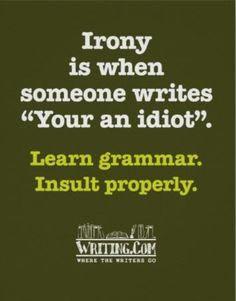 grammar irony
