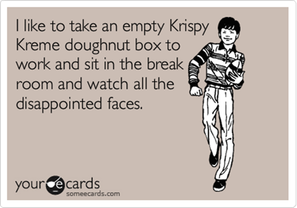 empty krispy kreme doughnut donut box disappointed