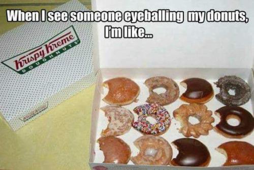 krispy kreme eyeballing donuts