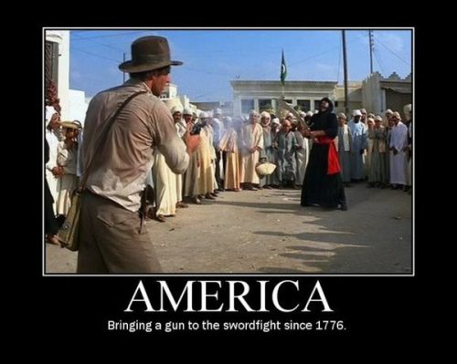 america gun sword fight