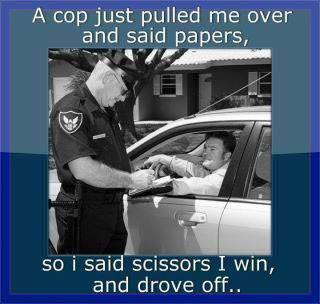 Rock Paper Scissors With A Police Officer Random Lifestyle