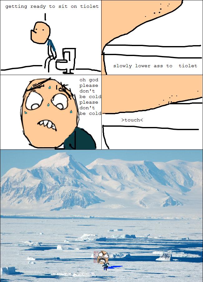 Toilet Seat Too Cold - Rage Comic