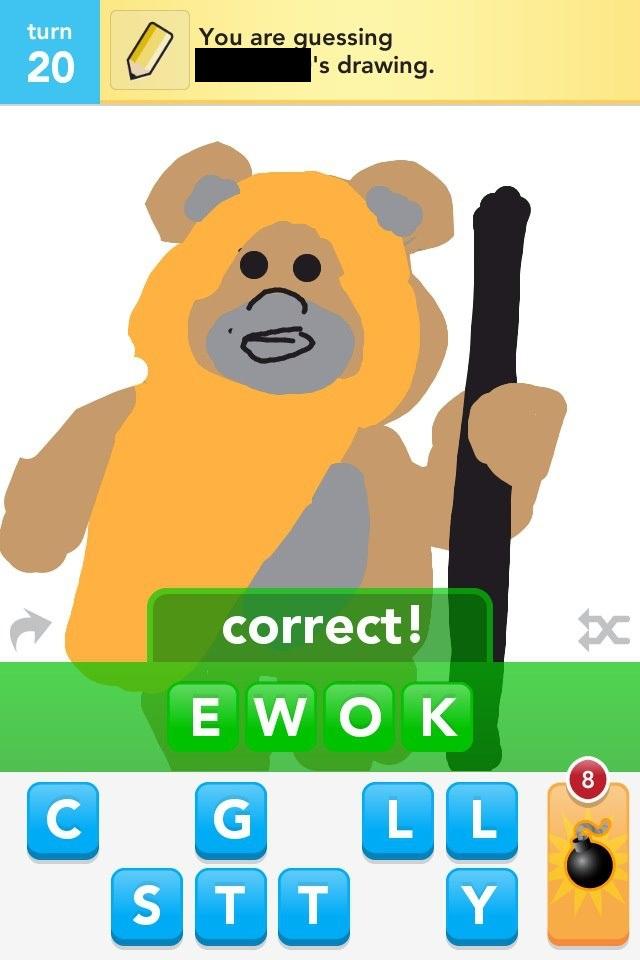 Draw Something - Drawsome Ewok