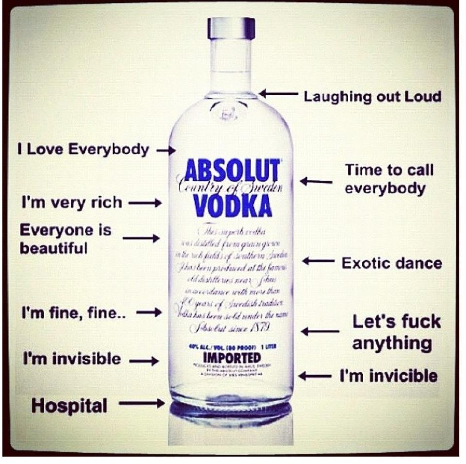 Absolut Vodka Drinking Stages