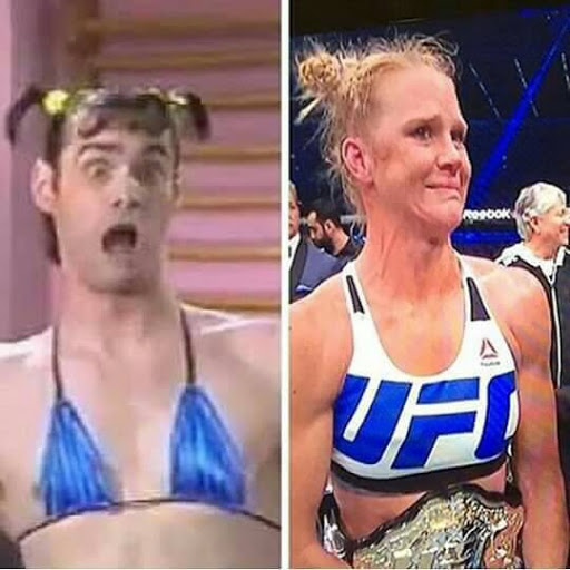 Rousey vs Holm vs Jim Carey