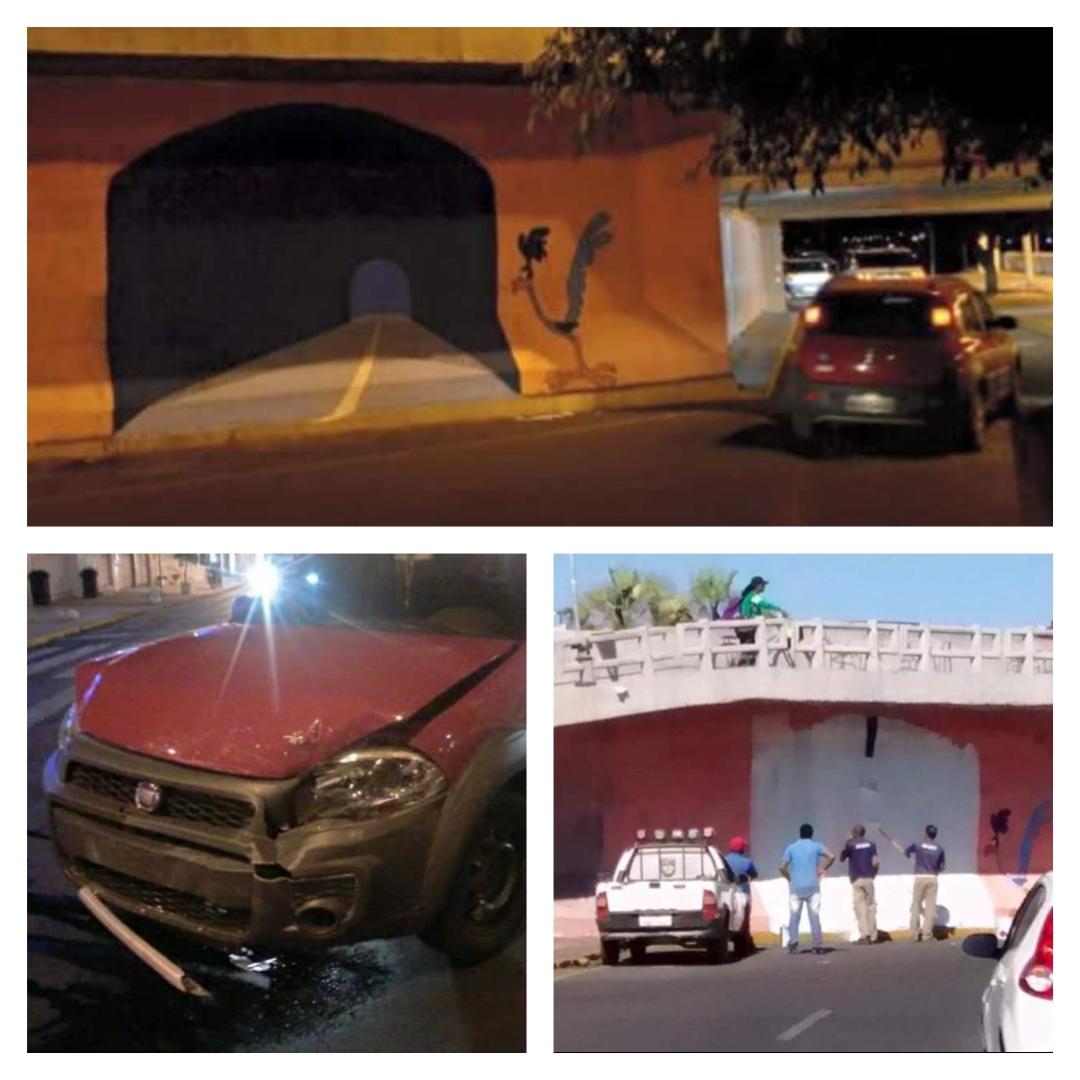 road runner tunnel car crash